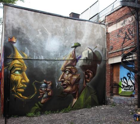 Monk.e mural in Hochelaga