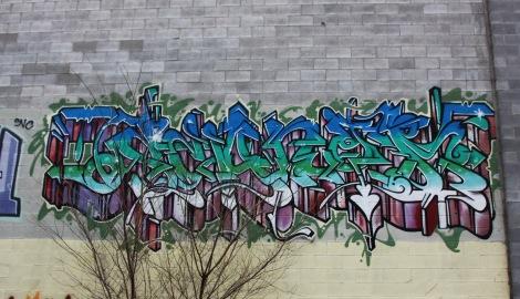 Scaner graffiti piece in Centre-Sud