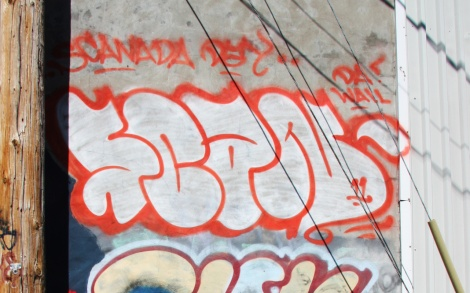 Scaner graffiti in Hochelaga
