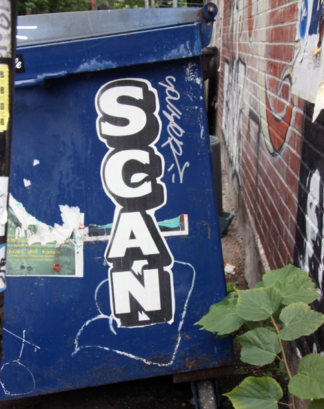 Scaner wheatpaste and tag