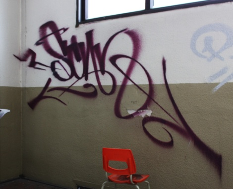 Scaner tag found inside abandoned school