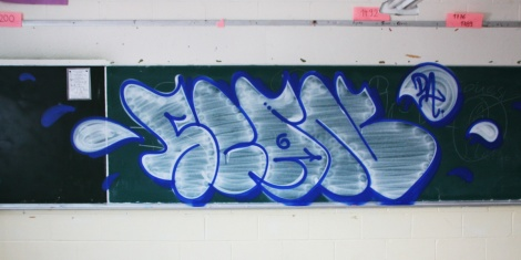 Scaner throwie found inside an abandoned school