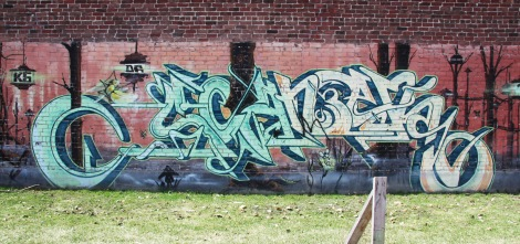 Scaner graffiti in Hochelaga park