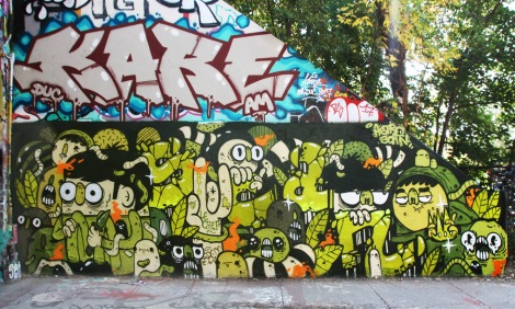 tribute to Scaner by Astro at the Rouen legal graffiti wall