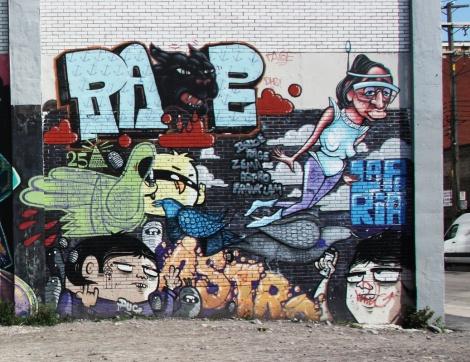 La Paria mural featuring Astro, Zema, Frank Lam, Rage, etc.