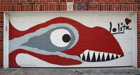 David Farley piece on garage door
