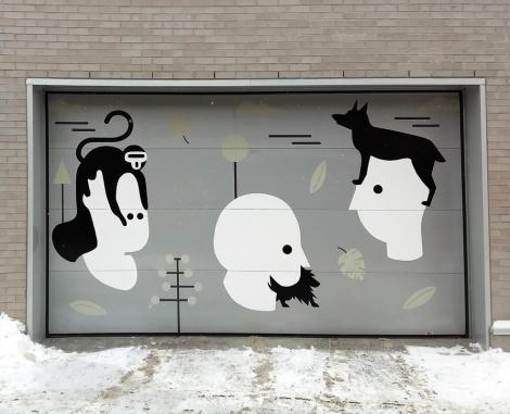 garage door by an unidentified artist in Mile End