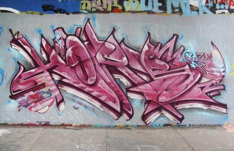 Korb at the Rouen legal graffiti wall