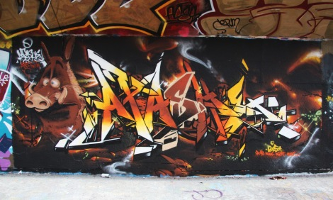 Apache graffiti at the Charlevoix legal graffiti wall