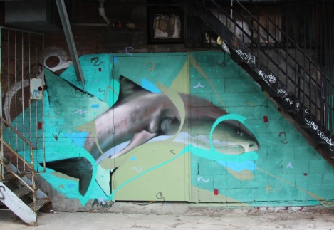Piece by Ardua in alley behind St-Laurent