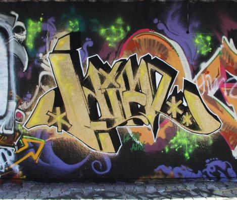 Himz (work-in-progress) at the PSC legal graffiti wall