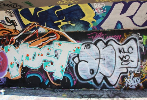 Most and Mr Def graffiti at the PSC legal graffiti wall