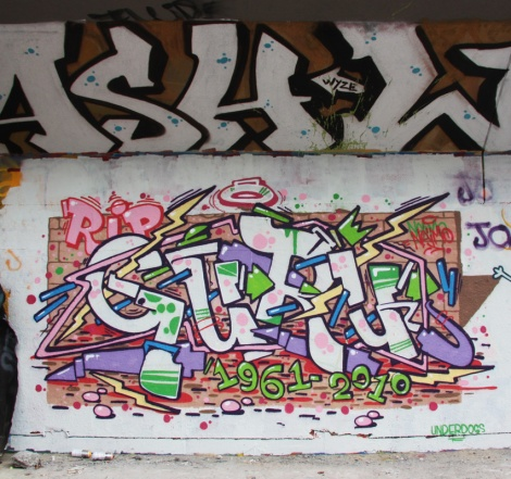 Naimo graffiti (a tribute to Guru) at the PSC legal graffiti wall