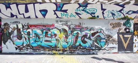 Underdogs (Scribe CSX and Naimo) graffiti at the PSC legal graffiti wall