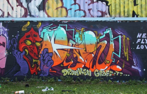 Debza graffiti piece