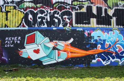 Painted piece by Lovebot in Rosemont