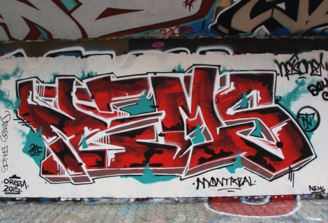 Nems / Orgzm at the PSC legal graffiti wall