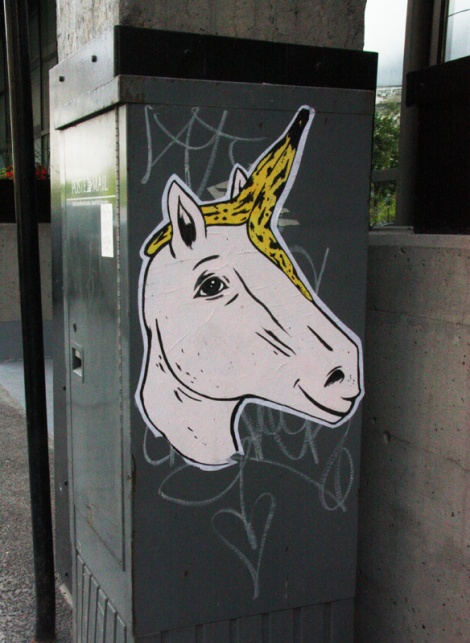 Pony wheatpaste in Cité du Multimédia
