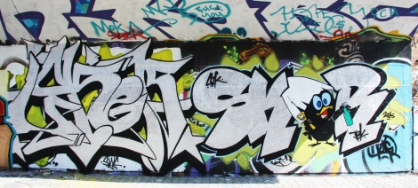 Loker and Skor at the PSC legal graffiti wall