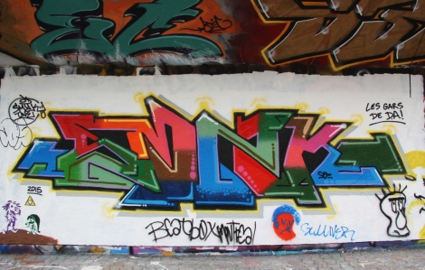 Smyk One graffiti at the PSC legal graffiti wall
