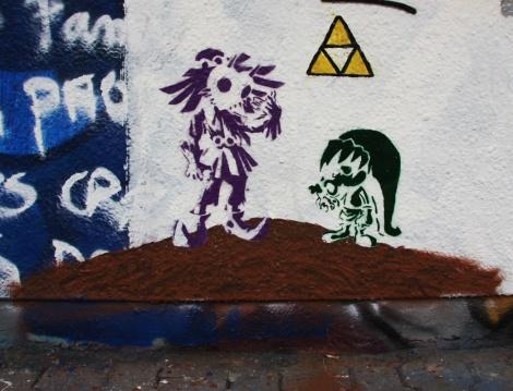 stencil found at the Charlevoix legal graffiti wall