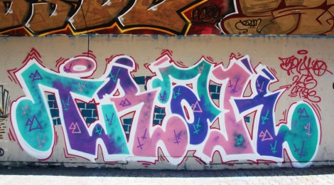 Trak graffiti at the PSC legal graffiti wall