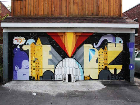 Peru with the help of Fiefo on a set of garage doors in Monkland Village
