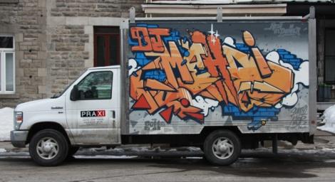 123Klan piece on truck
