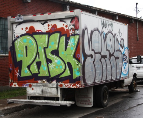 Pask piece on back of truck