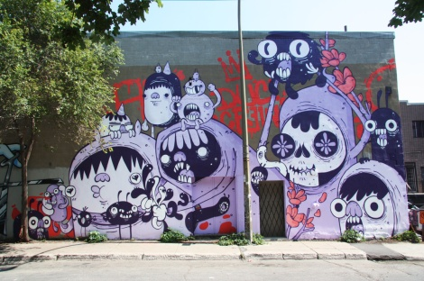 One of the 2 Astro contributions to the 2015 edition of Mural Festival