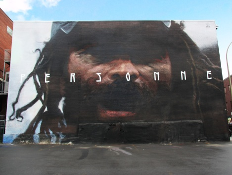 Axel Void's contribution to the 2015 edition of Mural Festival