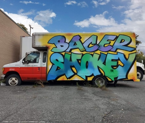 Bacer and Shok on truck side