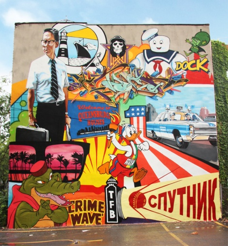 Benny Wilding's contribution to the 2015 edition of Mural Festival
