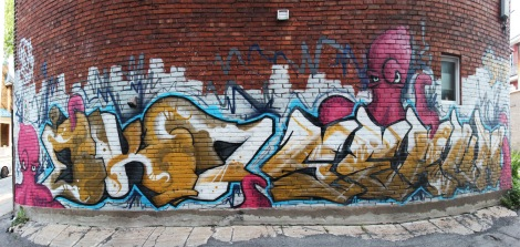 graffiti by EK7 and Serum in Hochelaga