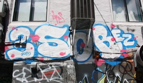 Lyfer? piece in a central graffiti alley