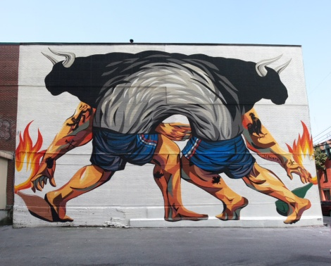 Jaz's contribution to the 2015 edition of Mural Festival