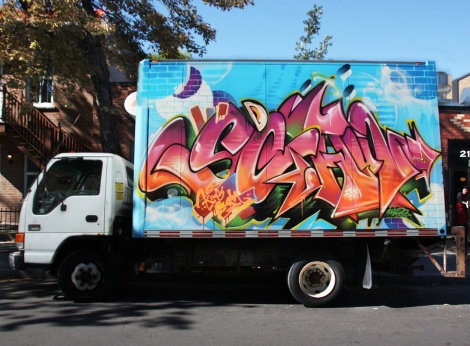 tribute to Scaner by Korb on truck side, done for the 2017 edition of Hip Hop You Don't Stop