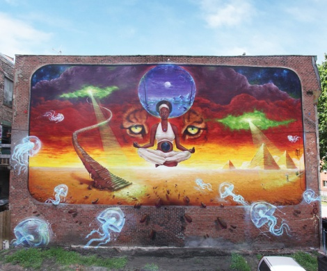 Monk.e's contribution to the 2015 edition of Mural Festival