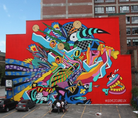 Bicicleta Sem Freio's contribution to the 2015 edition of Mural Festival