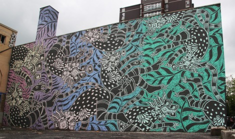 Curiot's contribution to the 2015 edition of Mural Festival