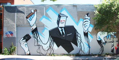 Earth Crusher's contribution to the 2015 edition of Mural Festival