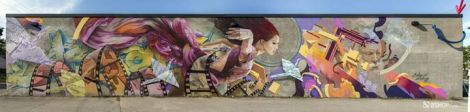 A'Shop mural for the Mercier library; photo © A'Shop