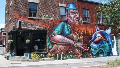 Clandestinos mural on Rachel