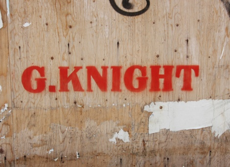 Graffiti Knight stencil in Plateau End