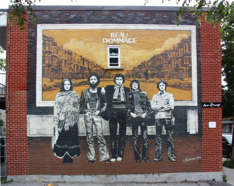 Homage to Beau Dommage's landmark debut album by Jerome Poirier in alley off St-Zotique