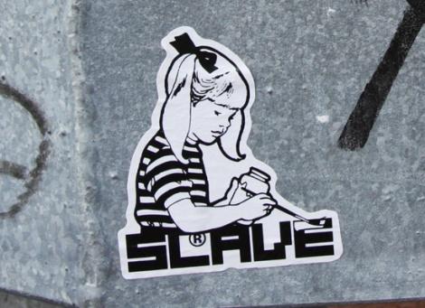 Slave sticker