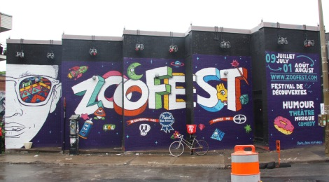 Zoofest walls painted by Rouks, Crane, Hellp aka LP Montoya and Wonez