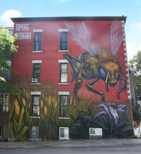 Opire and Bonar's contribution to the 2015 edition of Mural Festival