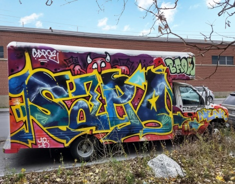Truck side by Sapoe for the 2018 edition of Hip Hop You don't Stop