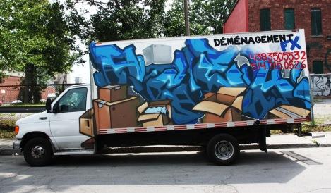 Acek on truck side